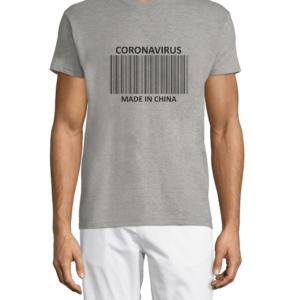 """Marškinėliai su dizainu """"Coronavirus made in China"""""""