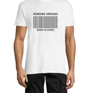 """Marškinėliai su dizainu """"Korona virusas made in China"""""""