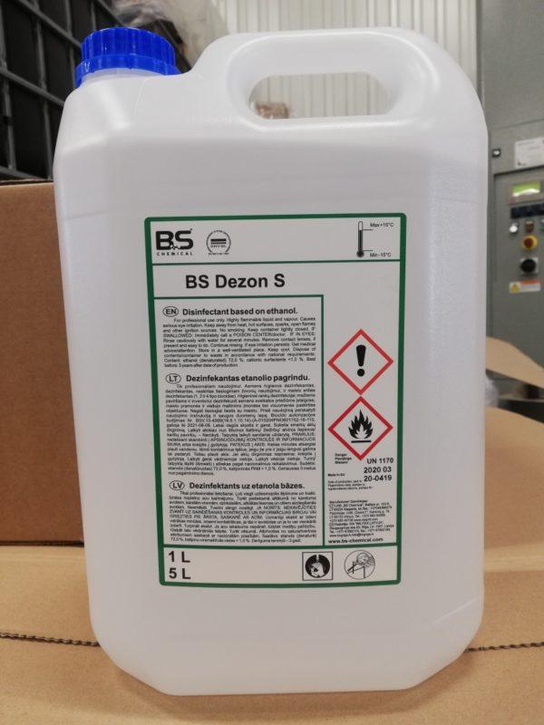 """Rankų ir paviršių dezinfekantas """"BS Dezon S"""" su biocidu 5L"""