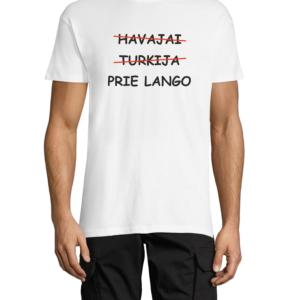 """Marškinėliai su dizainu """"Prie lango"""""""